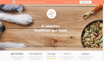 eCommerce website: The Farmer's Dog