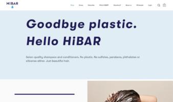 eCommerce website: HiBar