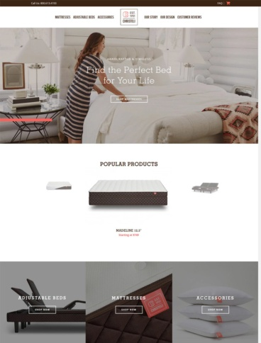 eCommerce website: Christeli