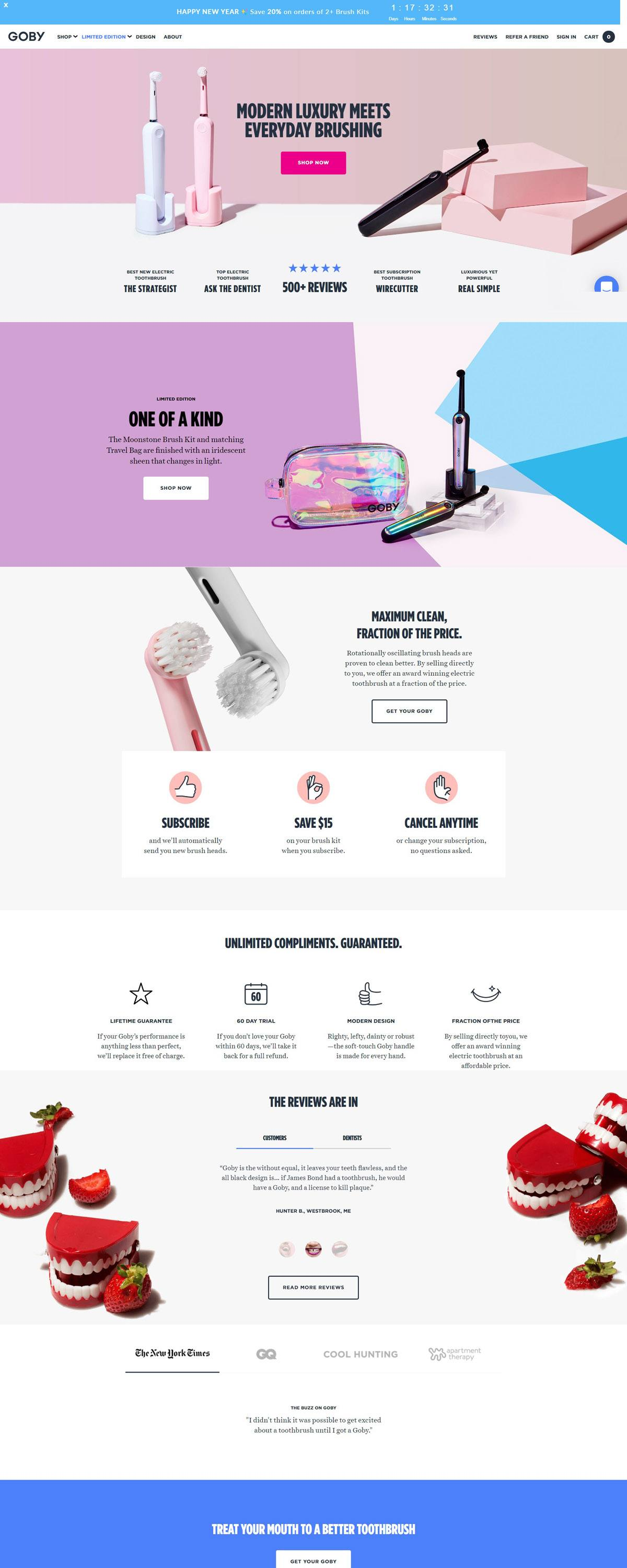 eCommerce website: GOBY