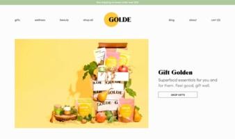 eCommerce website: Golde