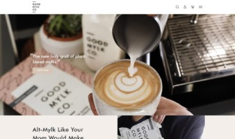 eCommerce website: GoodMylk Co.