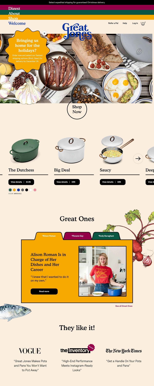 eCommerce website: Great Jones