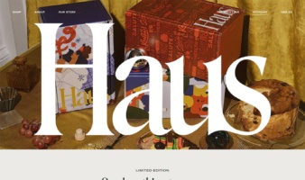 eCommerce website: Haus
