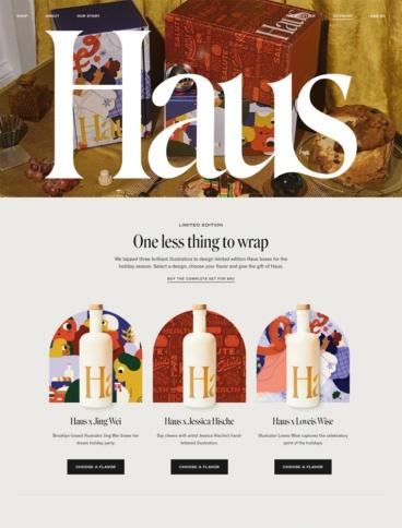 eCommerce website: Haus