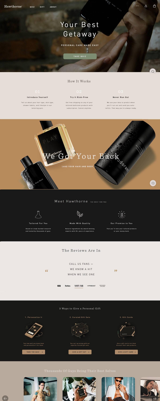 eCommerce website: Hawthorne