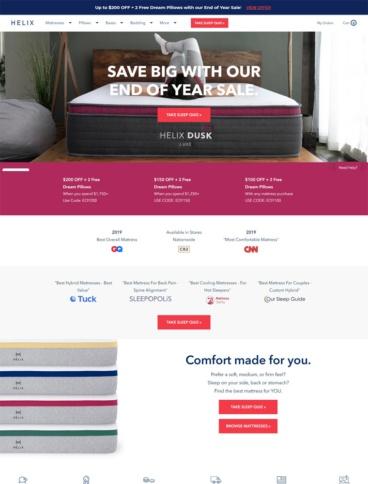 eCommerce website: Helix