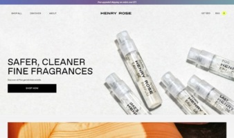 eCommerce website: Henry Rose