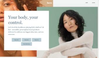 eCommerce website: Hers