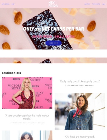 eCommerce website: HEYFRIDA