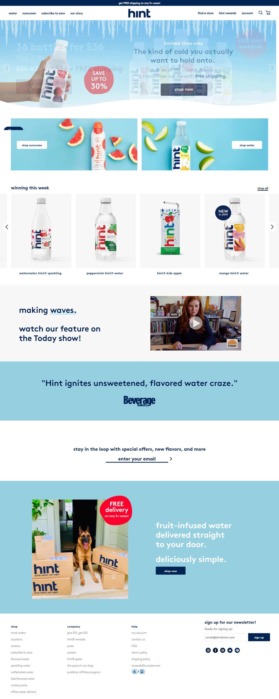 eCommerce website: Hint