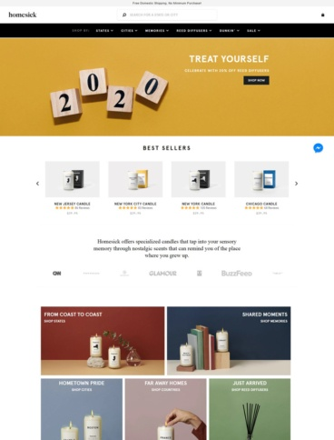 eCommerce website: Homesick