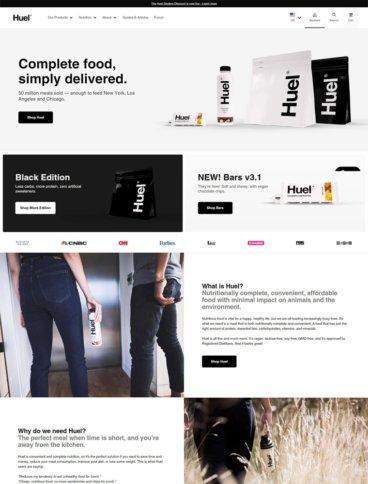 eCommerce website: Huel