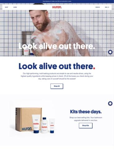eCommerce website: Huron