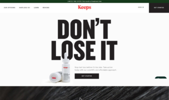 eCommerce website: Keeps