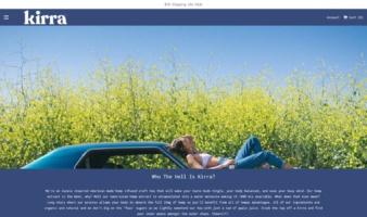 eCommerce website: Kirra
