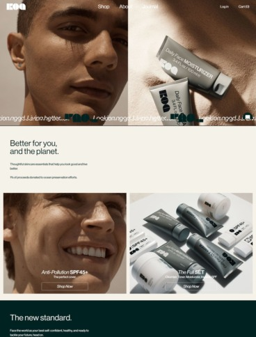 eCommerce website: Koa