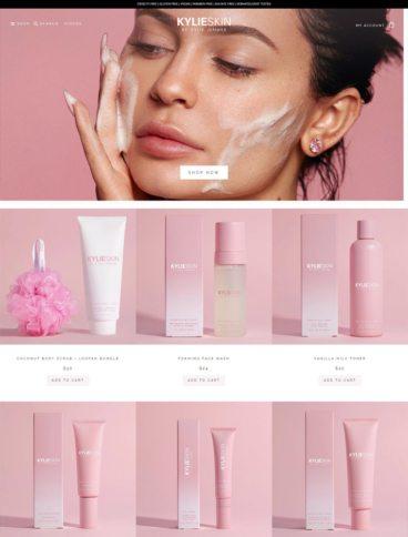 eCommerce website: Kylie Skin