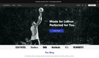 eCommerce website: Ladder
