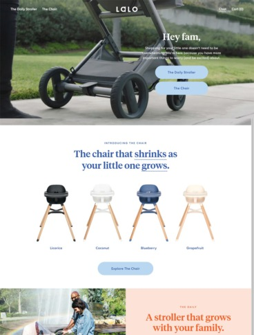 eCommerce website: Lalo
