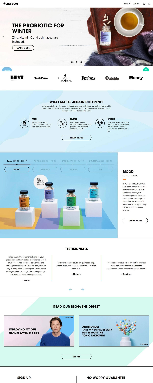 eCommerce website: Jetson