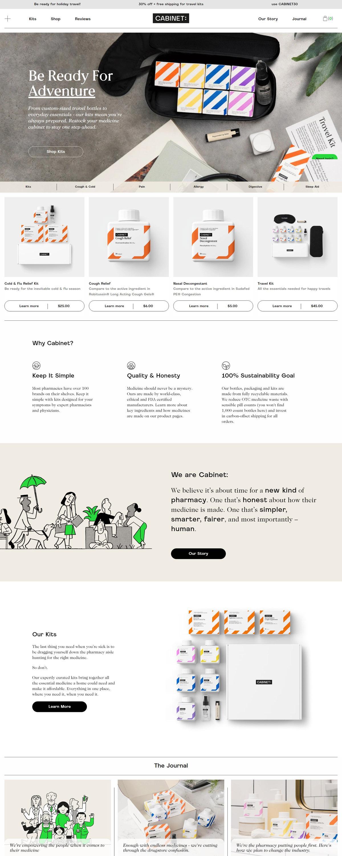eCommerce website: Cabinet