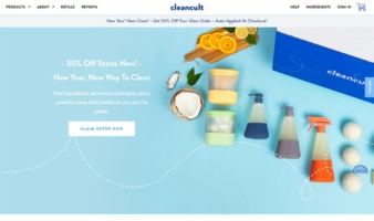 eCommerce website: Cleancult