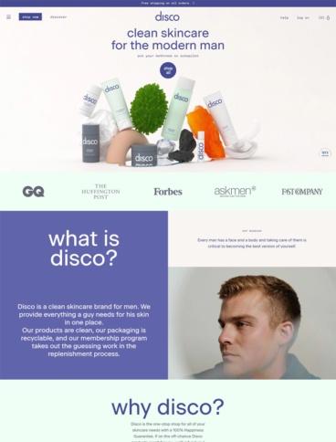 eCommerce website: Disco
