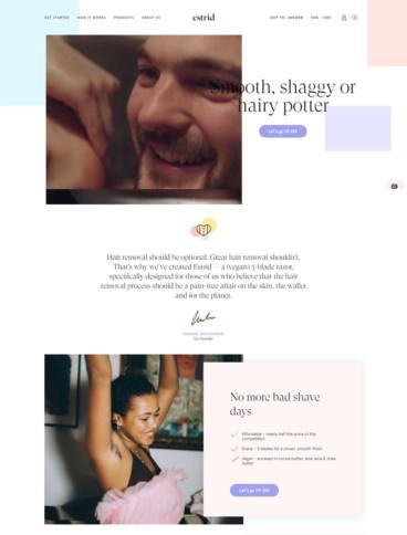 eCommerce website: Estrid