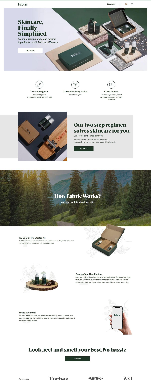 eCommerce website: Fabric