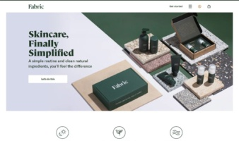eCommerce website: Fabric