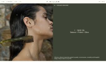 eCommerce website: F. Miller Skincare