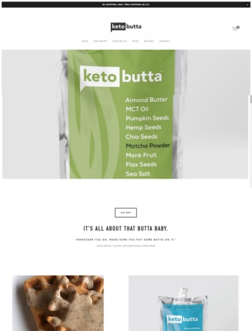 eCommerce website: Keto Butta