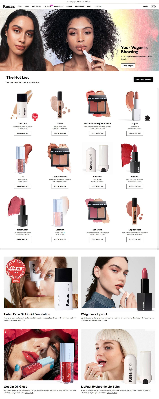 eCommerce website: Kosas