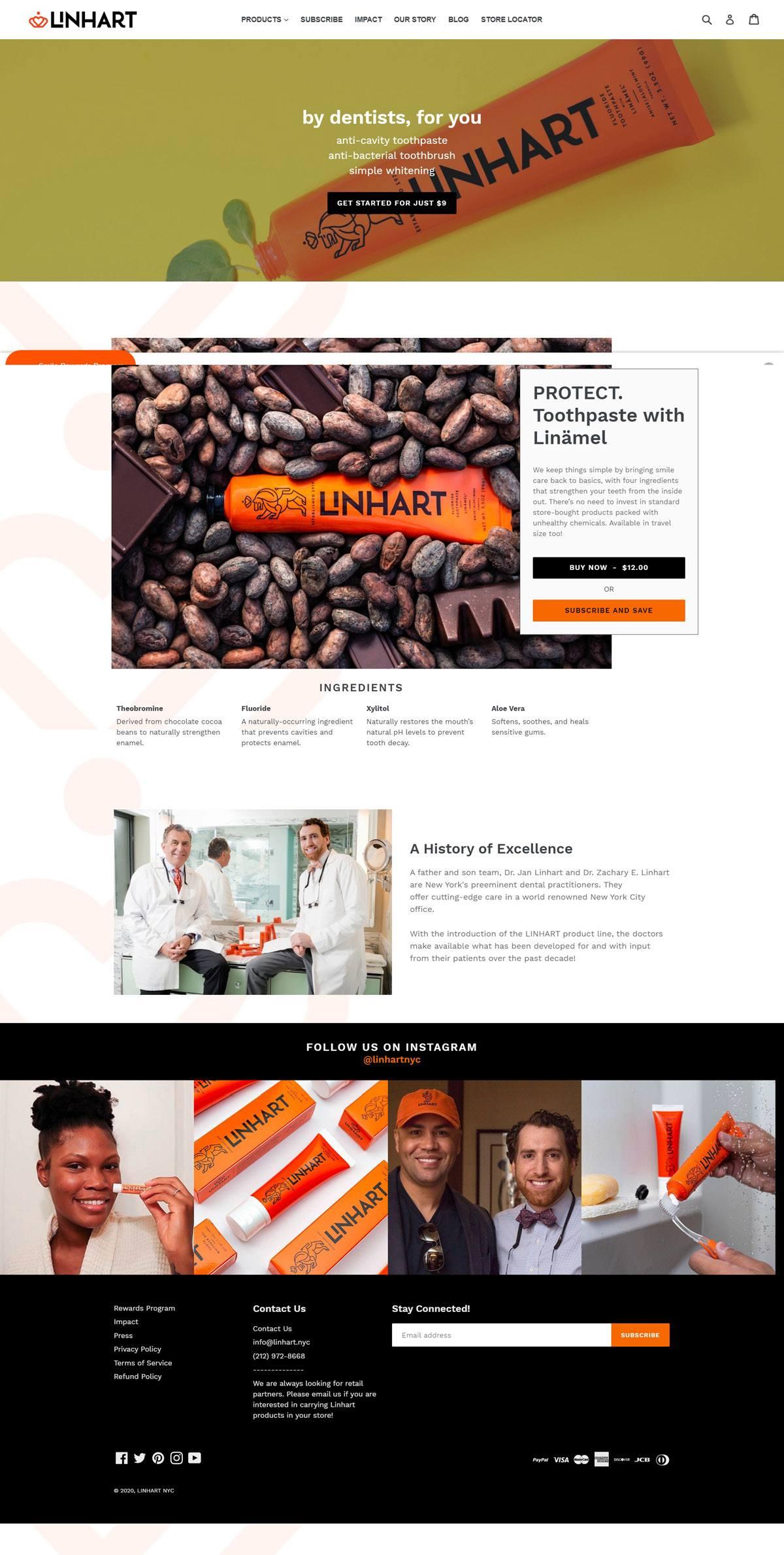 eCommerce website: Linhart
