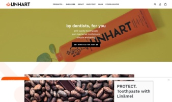 eCommerce website: Linhart