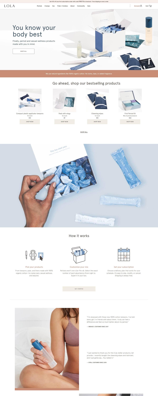 eCommerce website: Lola