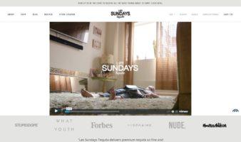 eCommerce website: Los Sundays