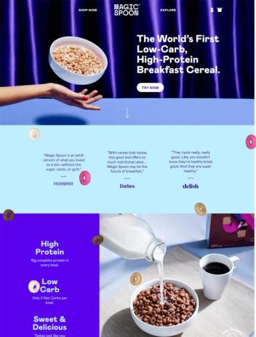 eCommerce website: MagicSpoon
