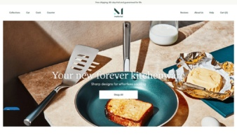 eCommerce website: Material