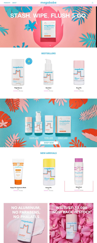 eCommerce website: Megababe