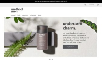 eCommerce website: Method Men