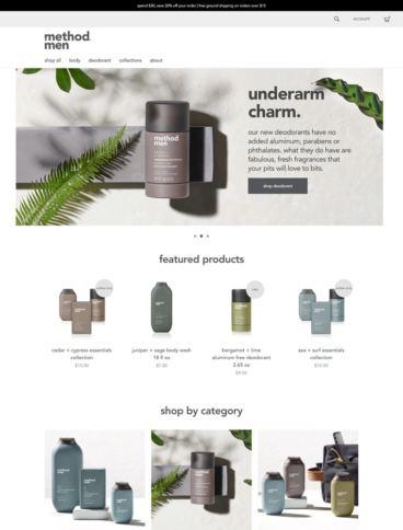 eCommerce website: Method Men
