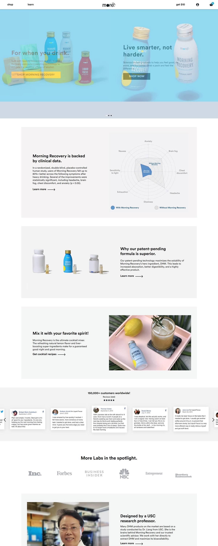 eCommerce website: More