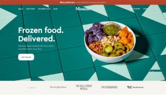 eCommerce website: Mosaic