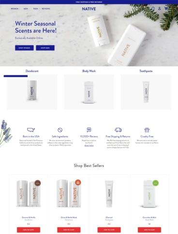 eCommerce website: Native