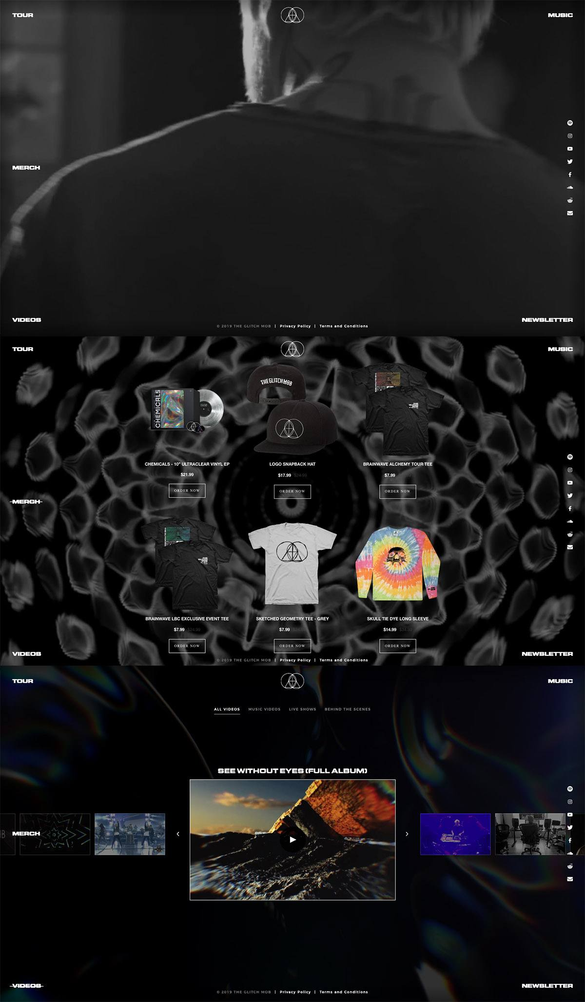 eCommerce website: The Glitch Mob