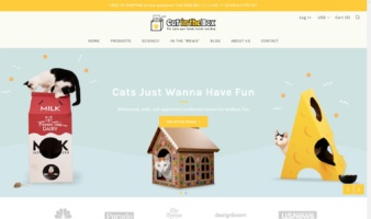 eCommerce website: Cat in the Box