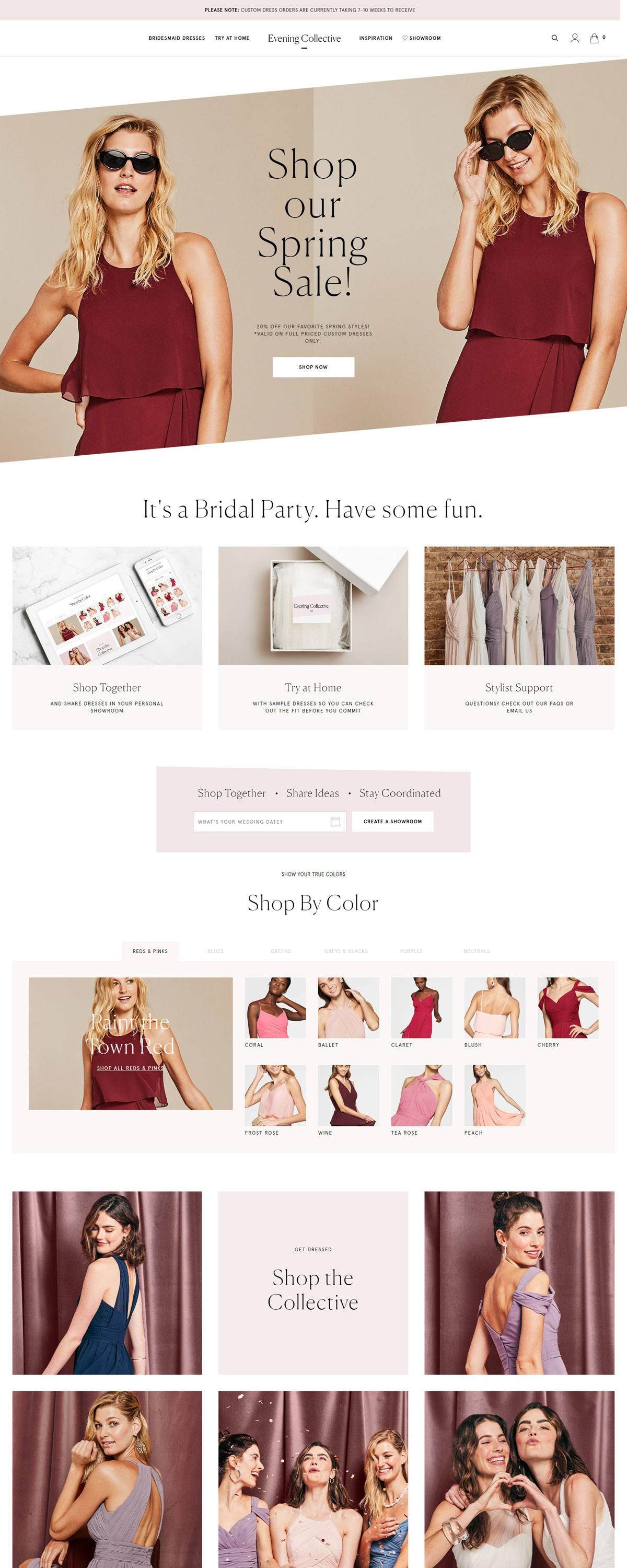 eCommerce website: Evening Collective