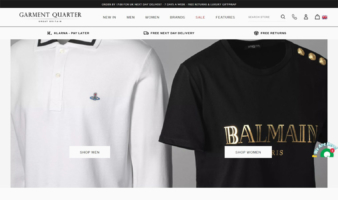 eCommerce website: Garment Quarter